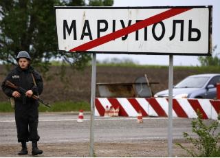 Под Мариуполем взрываются фугасы - 21 11 2014